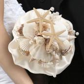 Le bouquet de mariage en coquillages