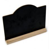 La pancarte ardoise sur socle en bois