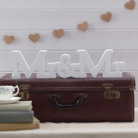 Mr & Mr en bois blanc