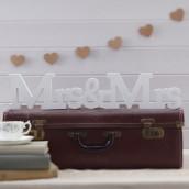Mrs & Mrs en bois blanc