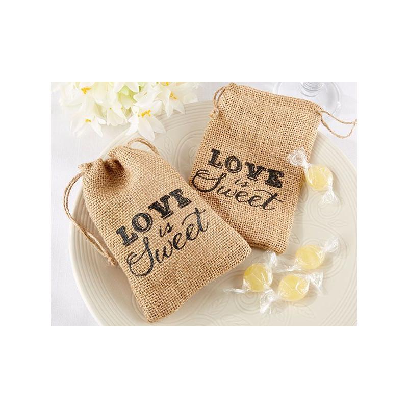 les 12 pochons toile de jute love is sweet d corations de mariage. Black Bedroom Furniture Sets. Home Design Ideas