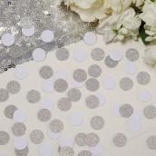 Les confettis de table argentés