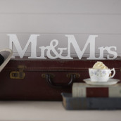 Mr & Mrs en bois blanc