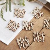 Les confettis de table en bois Mr&Mrs