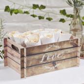 La caisse imitation bois en carton