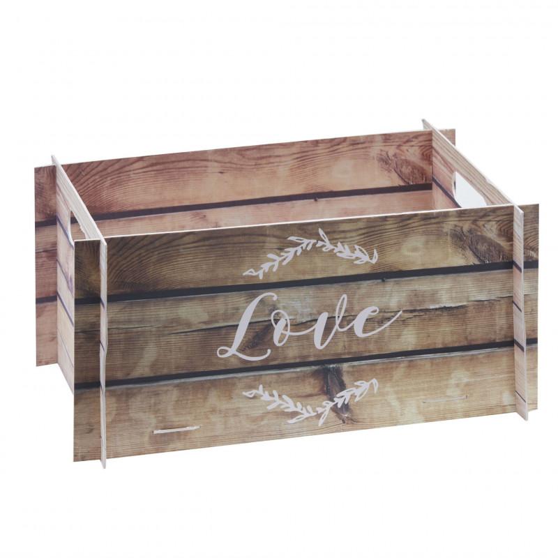 caisse imitation bois centre de table. Black Bedroom Furniture Sets. Home Design Ideas
