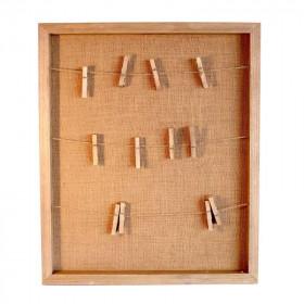 Le cadre toile de jute avec fil à linge
