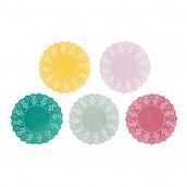 Les 100 mini napperons en papier 5 coloris