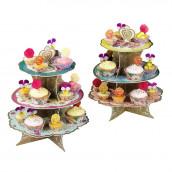 Le présentoir à gâteau floral