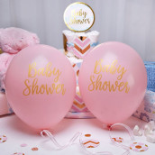 Les 8 ballons baby shower rose