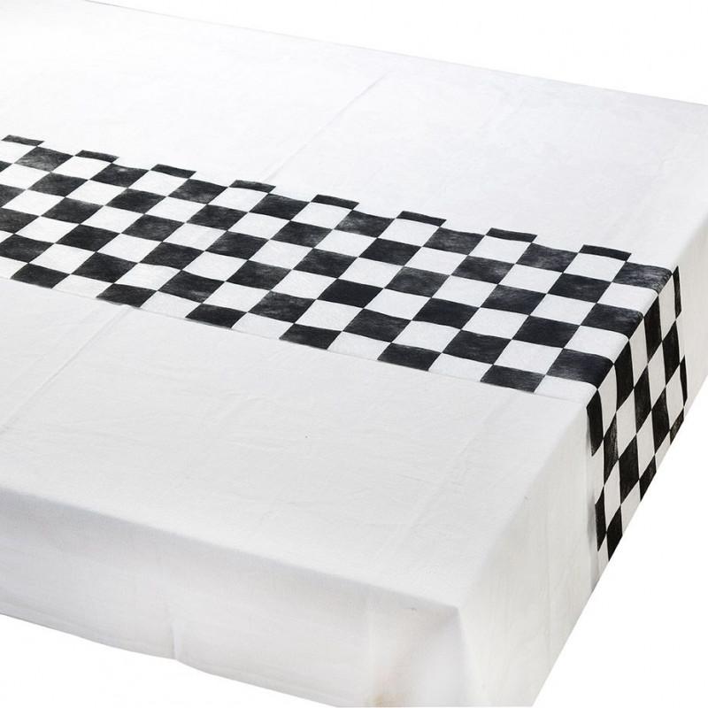 Chemin de table damier noir et blanc - Chemin de table noir et blanc ...