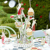 Le présentoir cupcake alice au pays des merveilles