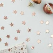 Les confettis de table étoile cuivre