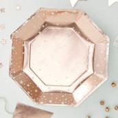 Les 8 assiettes étoile cuivre