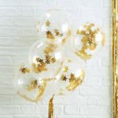 Les 5 ballons confettis étoile or
