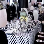 Decoration de mariage noir et blanc