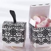 La boîte à dragées dentelle noire