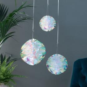 Les 3 boules papier iridescent