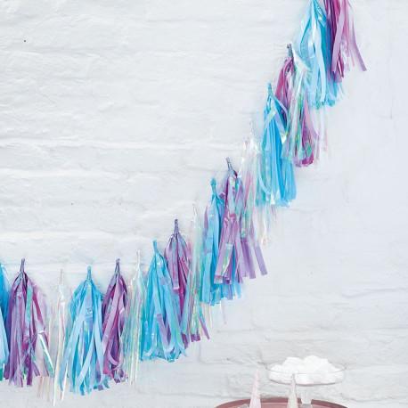 Les 5 tassel garland en papier iridescent
