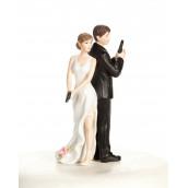 La figurine espions pour gateau mariage