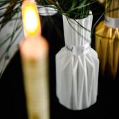 Le vase origami blanc, noir ou or