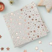 Les 20 serviettes étoile cuivre
