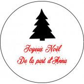 Les 24 stickers personnalisés Noël