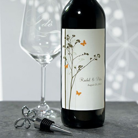 Très Etiquettes personnalisees bouteille vin champetre QE35