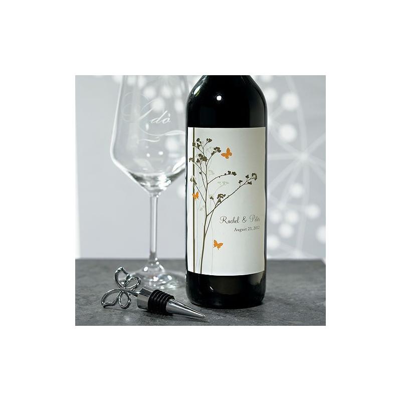 Super Etiquettes personnalisees bouteille vin champetre KS73