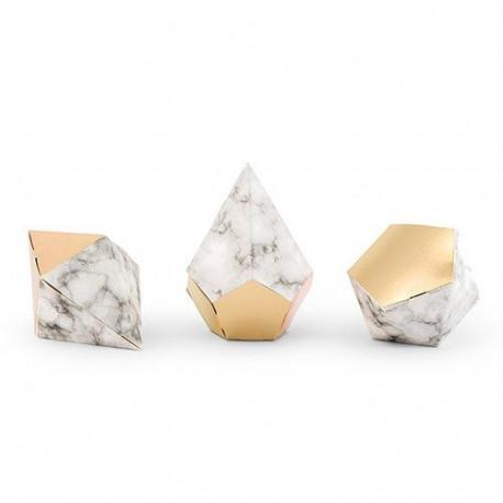La boîte à dragées marbre (x 12)
