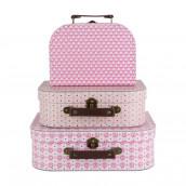 Le set de 3 valises motifs roses