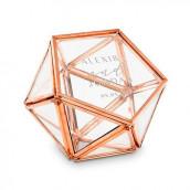 Le porte-alliances terrarium hexagonal personnalisé