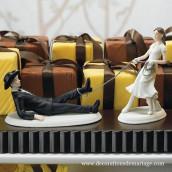 La figurine de mariage western lasso