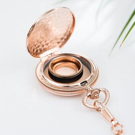 Le porte-alliances à gousset or ou cuivre
