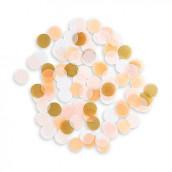 Les confettis rose, or et pêche