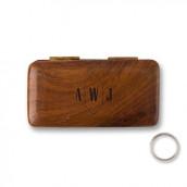 Le porte alliances bois personnalisé logo geo