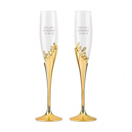 Les 2 flûtes à champagne cheers to love