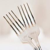 Le duo de fourchettes Mr & Mrs argent