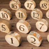 Les 20 numéros de table en bois