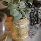 Le vase pailleté cuivre