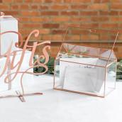 L'urne mariage terrarium cuivre personnalisée