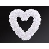 Le coeur de roses ouvert blanc