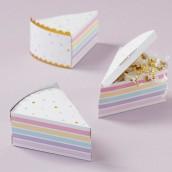 La boite à dragées part de gâteau (par 12)