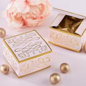 La boîte à dragées romance rose et or (x12)