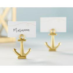 Le porte nom mariage ancre dorée