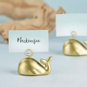 Le porte nom mariage baleine dorée (x6)