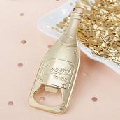 Le décapsuleur bouteille de champagne dorée