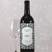 Les 8 étiquettes bouteille de vin damas