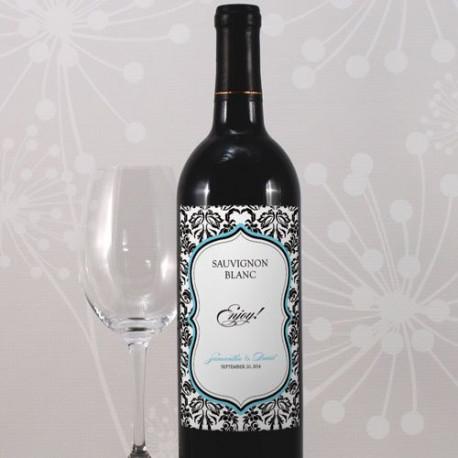 etiquettes personnalisees bouteille vin mariage baroque. Black Bedroom Furniture Sets. Home Design Ideas