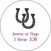 Les 24 stickers personnalisés ronds fers à cheval